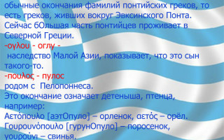 Греческие фамилии мужские