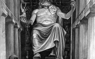 Греческий пантеон богов список