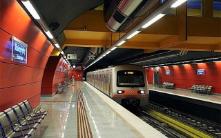 Карта метро афины с достопримечательностями