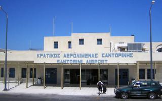 Аэропорт Санторинии на карте