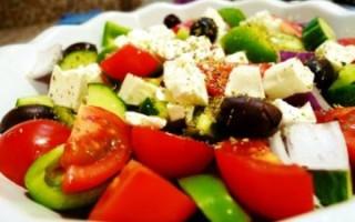 Рецепт греческого салата с сыром сиртаки