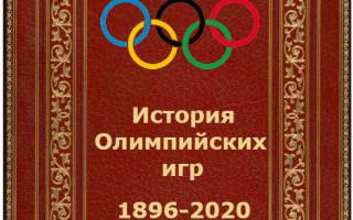 История развития олимпийских игр кратко