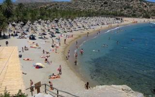 Пальмовый пляж в греции