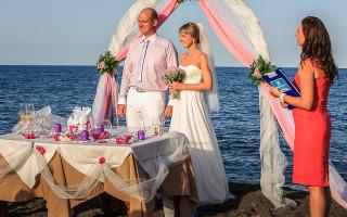 Свадьба на санторини фото