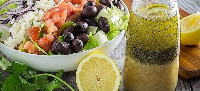 Заправка для греческого салата с соевым соусом